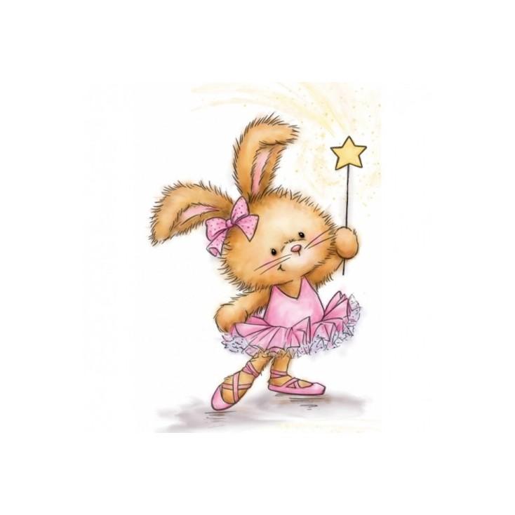 Stemple / pieczątki - Wild Rose Studio -Bunny Ballerina CL501
