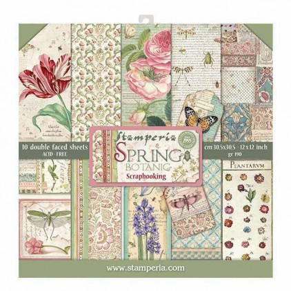 Set of scrapbooking papers - Stamperia - Spring Botanic - SBBL50