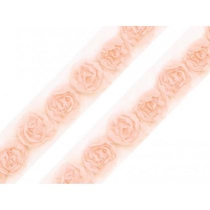 Róże na tiulu - łososiowe