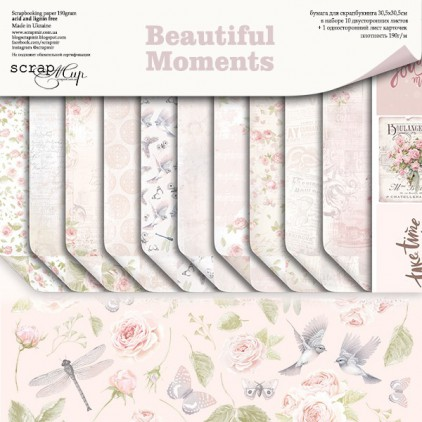 Set of papers 30 x30 cm - Scrap Mir - Beautiful Moments