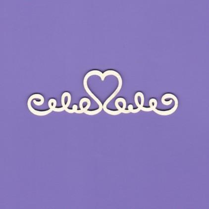 Cardboard element - Wedding ornament 1- Crafty Moly