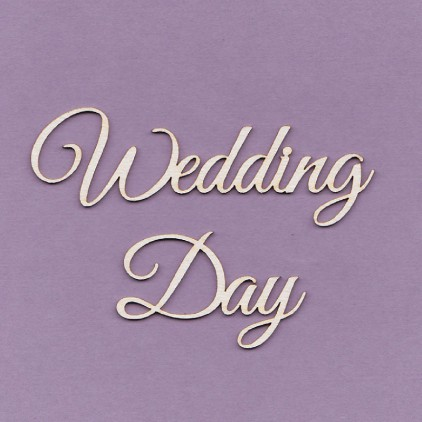 Cardboard element - Wedding Day - large- Crafty Moly