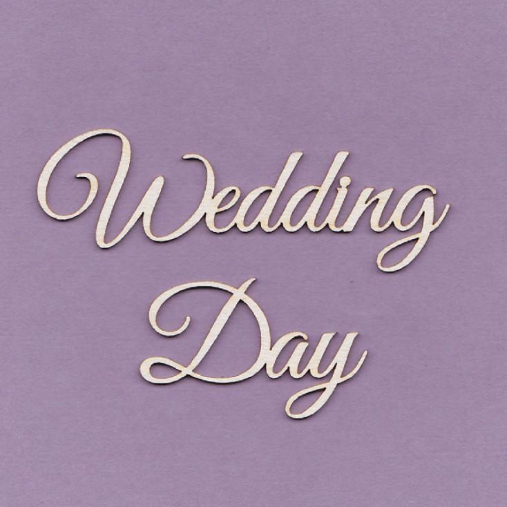 Tekturka - napis Wedding Day - duży- Crafty Moly
