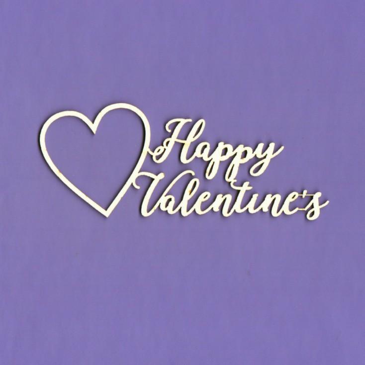 Cardboard element -Happy Valentine's - heart - Crafty Moly