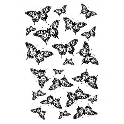 "Folia z nadrukiem, nakładka - Fabrika Decoru -""Butterflies"""