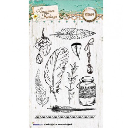Set of clear stamps - Studio Light - Summer Feelings STAMPSF189