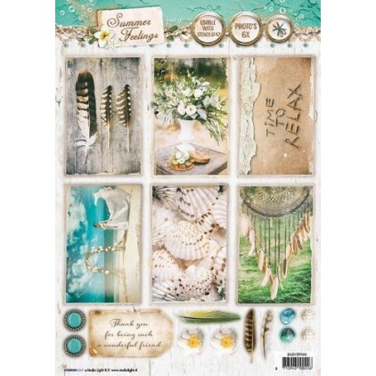 Papier do tworzenia kartek i scrapbookingu A4- Studio Light - Summer Feelings - EASYSF565