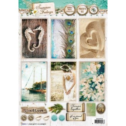 Scrapbooking paper - Studio Light -A4- Studio Light - Summer Feelings - EASYSF566