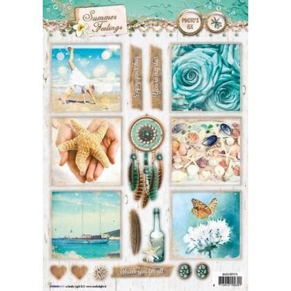 Papier do tworzenia kartek i scrapbookingu A4- Studio Light - Summer Feelings - EASYSF573