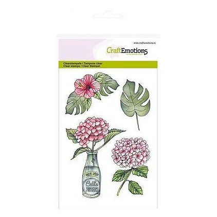Set of clear stamps - Craft Emotions - Hydrangea with bottle