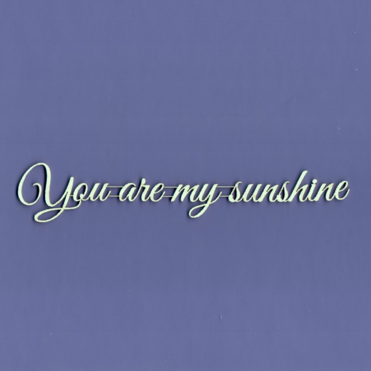 Cardboard element -You are my sunshine- Crafty Moly