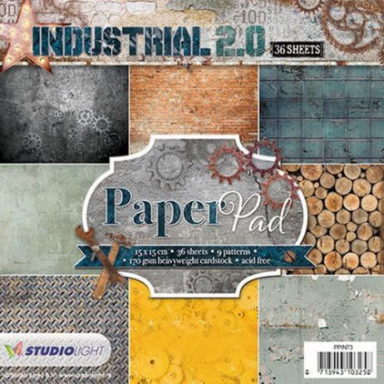 Mały bloczek papierów do scrapbookingu - Studio Light - Industrial 2.0 PPIN73