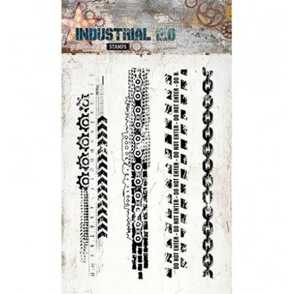 Set of clear stamps - Studio Light - Industrial 2.0 -STAMPIN254