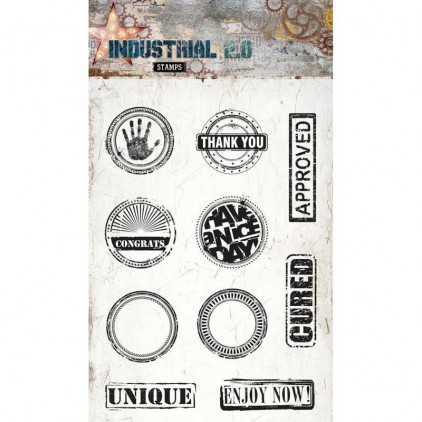 Set of clear stamps -  Studio Light - Industrial 2.0 -STAMPIN255