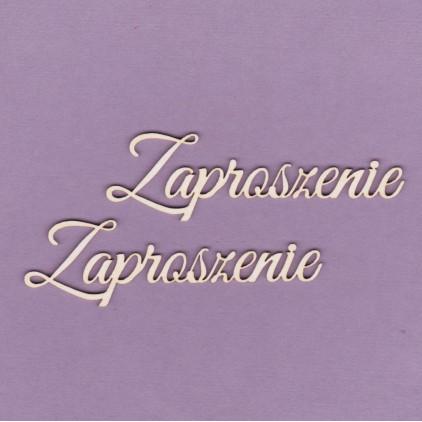 Cardboard element - Zaproszenie - 2 pcs.- Crafty Moly