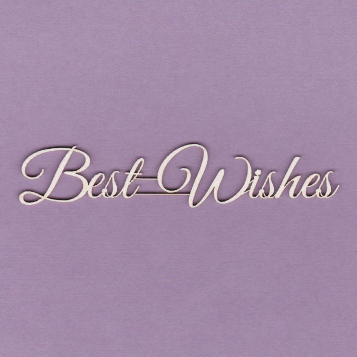Cardboard element - Best Wishes- Crafty Moly