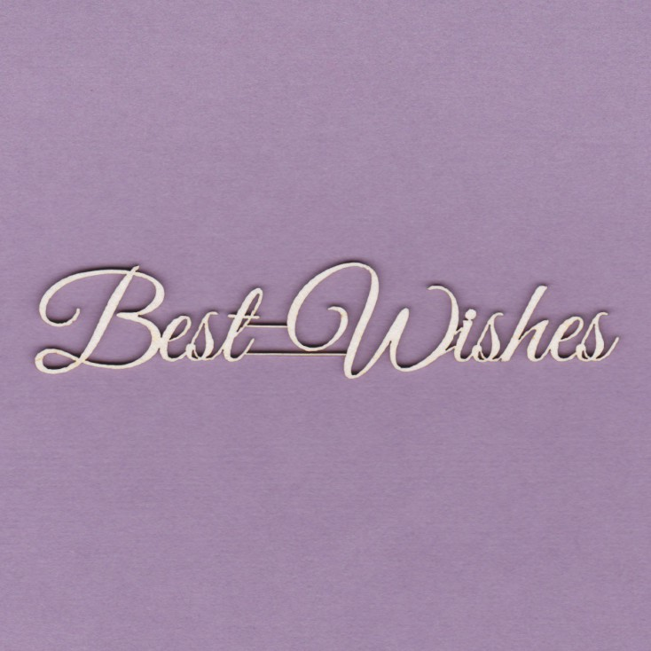Tekturka - napis - Best Wishes- Crafty Moly