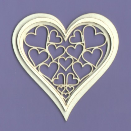 1129 tekturka - Serce Romance - Crafty Moly