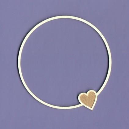 Tekturka - Ramka Simple Love okrągła- Crafty Moly