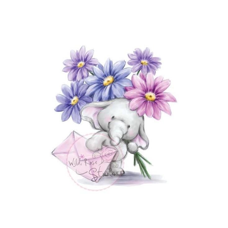 Stemple / pieczątki - Wild Rose Studio - Bella with Flowers CL226