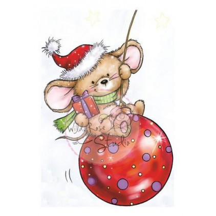Stemple / pieczątki -  Wild  Rose Studio - Mouse on Baubles CL425