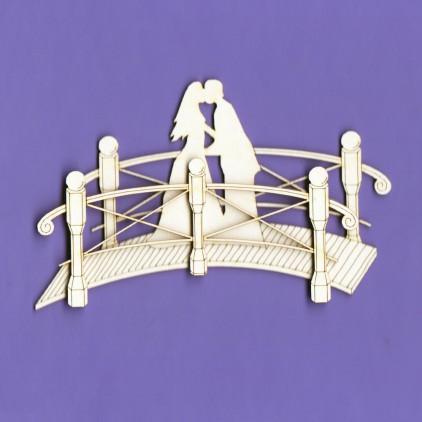 Tekturka - Romantyczny Mostek 2D- Crafty Moly
