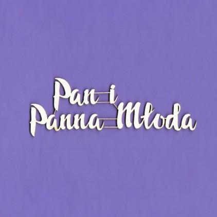 196 tekturka napis Pan i Panna Młoda - Crafty Moly