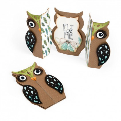 Sizzix Thinlits  661138  - Card, Owl label fold-a-long