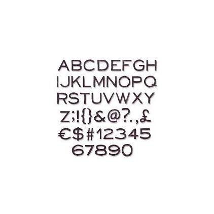Wykrojnik do wycinania - Sizzix Thinlits 662226 - Alphanumeric, thin
