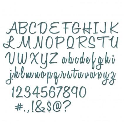 Wykrojnik do wycinania - Sizzix Thinlits 662228 - Alphanumeric, script