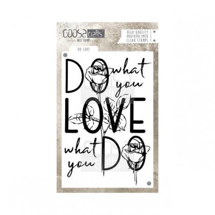 Set of clear stamps - Coosa crafts - Do love - COC-025