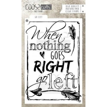 Set of clear stamps - Coosa crafts - Go left - COC-027