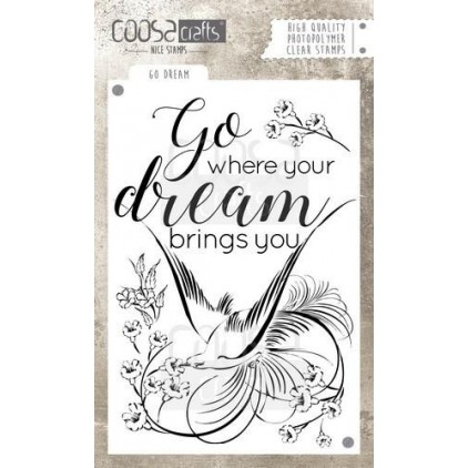 Set of clear stamps - Coosa crafts - Go dream - COC-029