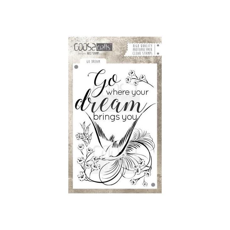 Stemple / pieczątki - Coosa crafts - Go dream - COC-029
