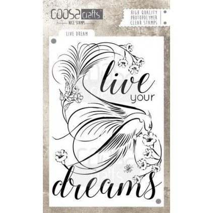 Set of clear stamps - Coosa crafts - Live dream - COC-030