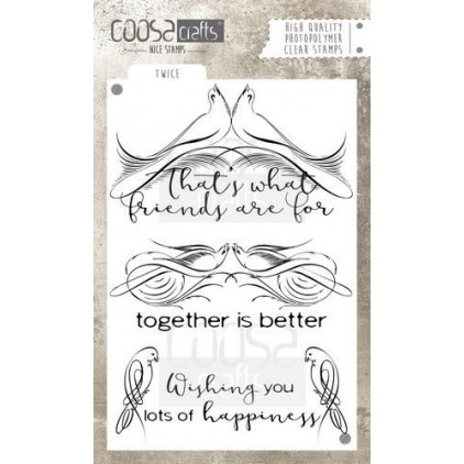 Set of clear stamps - Coosa crafts - Twice - COC-031