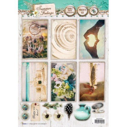 Papier do tworzenia kartek i scrapbookingu A4- Studio Light - Summer Feelings - EASYSF567