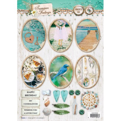 Scrapbooking paper - Studio Light -A4- Studio Light - Summer Feelings - EASYSF569