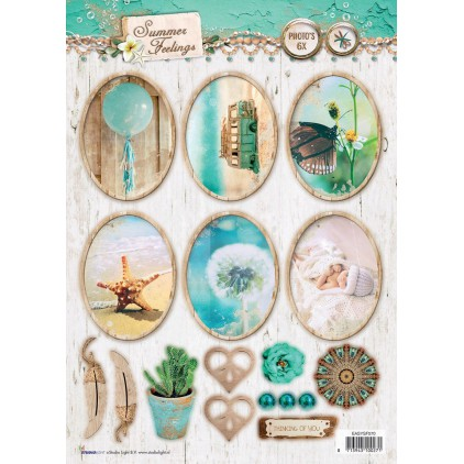 Scrapbooking paper - Studio Light -A4- Studio Light - Summer Feelings - EASYSF570