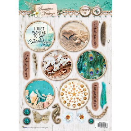 Scrapbooking paper - Studio Light -A4- Studio Light - Summer Feelings - EASYSF571