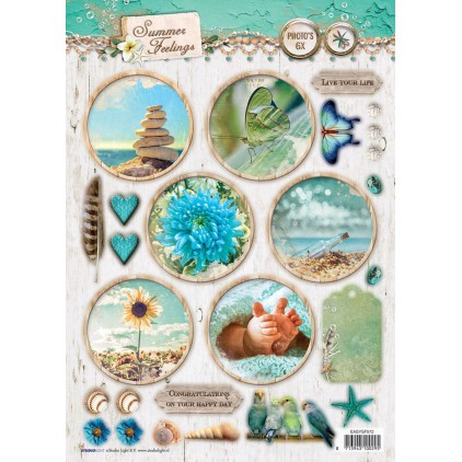Scrapbooking paper - Studio Light -A4- Studio Light - Summer Feelings - EASYSF572