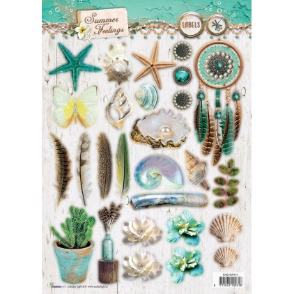 Scrapbooking paper - Studio Light -A4- Studio Light - Summer Feelings - EASYSF574