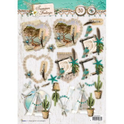 Papier do tworzenia kartek i scrapbookingu A4- Studio Light - Summer Feelings - EASYSF575