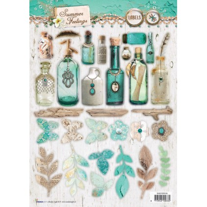 Papier do tworzenia kartek i scrapbookingu A4- Studio Light - Summer Feelings - EASYSF576