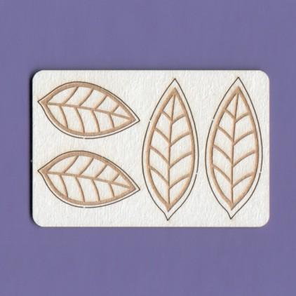 Tekturka - Zestaw liście 3 - Crafty Moly