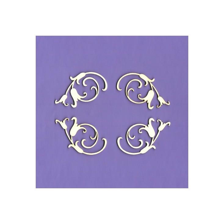 Cardboard element - Ornaments Majestic 2- Crafty Moly