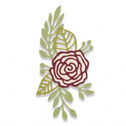 Wykrojnik do wycinania - Sizzix THINLITS 661742 - Doodle rose