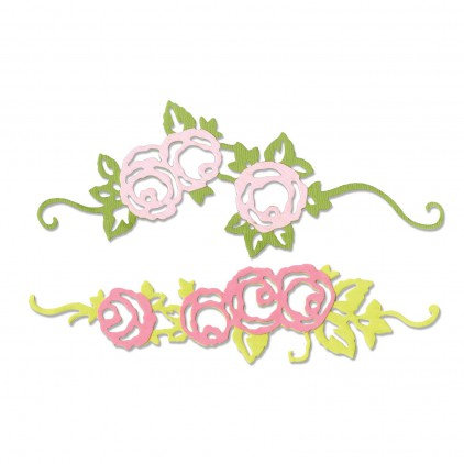 Wykrojnik do wycinania - Sizzix THINLITS 660746 - Rose border
