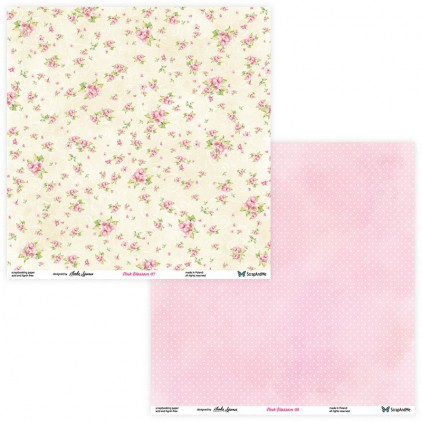 Set of scrapbooking papers - ScrapAndMe - Pink blossom - 07/08