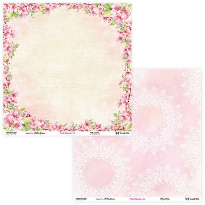 Set of scrapbooking papers - ScrapAndMe - Pink blossom - 09/10